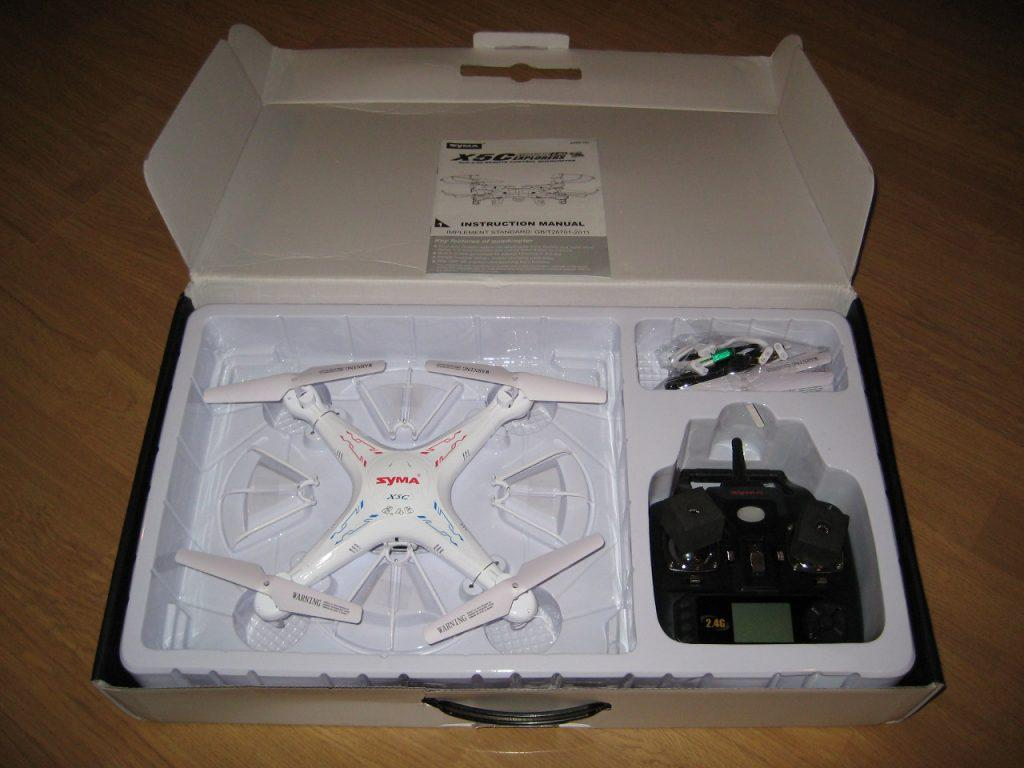 syma x5c explorer quadcopter box