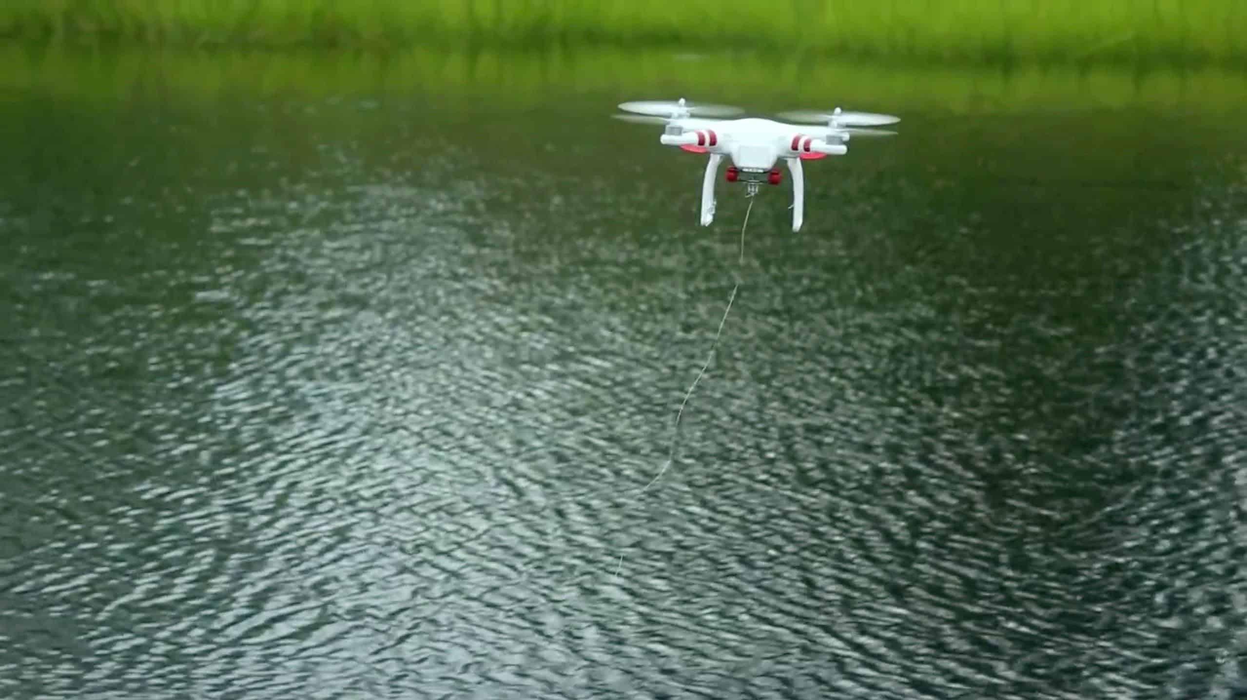 largage appât avec drone
