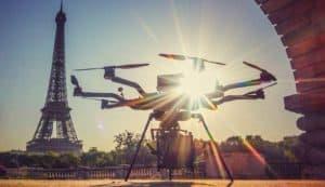 Spot pour drone a Paris